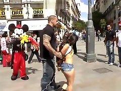 Petite Spanish slut grupping video disgraced