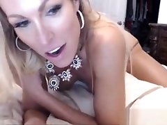 Big-tits milf tease with viewer in her room