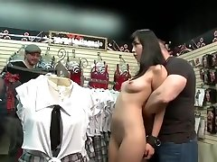 Petite Asian group crotchles panties tube in theater