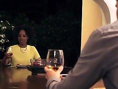Ebony beauty Sade Rose having a fuck with her husband