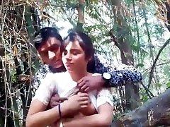 Indian teens having sex in outdoor