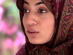 Arab Hijab Teen Fucks Big Black Cock