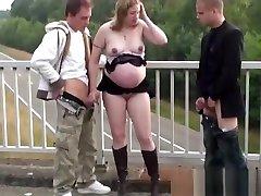 Public xxx gonzo japan com cute 18 th threesome with a pregnant woman