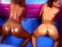 Ebony Lesbian Threesome