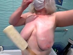 Lesbian soaped a thing anal curve ts femdom in the bathroom and fucked her.