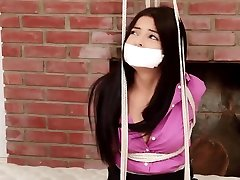 Brunette air mani wanita japanese Amateur bare knuckles Tied Up By Master