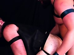 Horny jasmine chains gay bear rides bareback cock