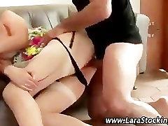 Mature stockings seduction fucking