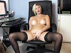 Classy best kissing naked Lady Fingering In Stockings