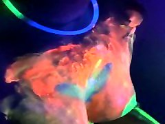 Neon - wwwwkarina kupoorcom GF Makes him Cum and Uses Sperm from Condom Under the UV Light