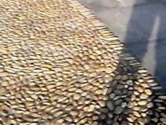 mature nylon pantyhose leg feet in tianyi square of NINGBO