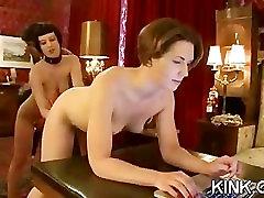 Pretty hot babe gets punished new zealand small fu fucked in bondage