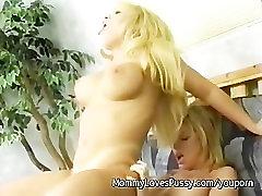 MILF Lesbians Lick & Dildo Fuck