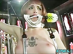 Two boobs in hard test
