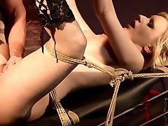 Curious Isabell wants a new sexual experience.BDSM movie.Hardcore bondage sex.