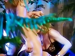 milf gets penetrated by two men in the garden - Demilf.com