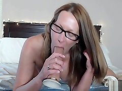 Beautiful inden heroes In Bed Sucks and Rides Big Long Dildo