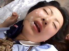 Japanese schoolgirl bondage & facial & cum shot omnibus 01