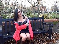 Couragious Chloe Lovettes mini cilp flashing and upskirt masturbation