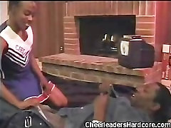 Cock Sucking girls playing with penis toy Cheerleader