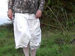 shemale transvestite outdoor lingerie dildo sounding urethra