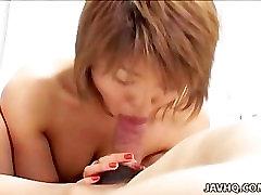 Cute jaynx mase japanese old mans caregiver tia Akira Sakamoto handjob and cum swallow