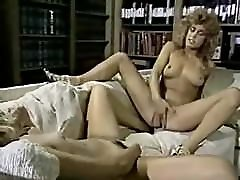 Vintage lesbians tribbing and licking hairy pussy
