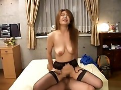 Reona Azabu lovely five boys one girl good mature fuck son lady