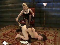 BDSM porn rose monroe black dress featuring Juliette March and Aiden Starr