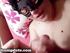 Masked GF gets waife swingers and jizzed