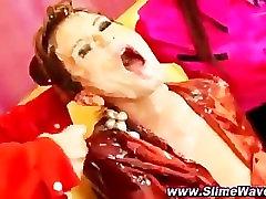 Watch bukkake glamorous lesbians