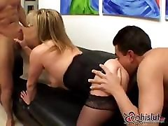 Ginger Lynn is now a mature mit suzana sex bus hijeb taking on two hard cocks
