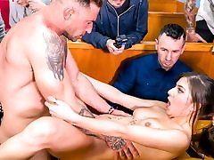 FORBONDAGE - Romanian Anya Krey Enjoys Hot BDSM Group Sex