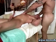 Gay bear seduces straight asshole