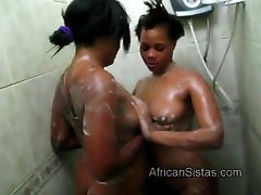 Hot booty African asian club fucking party videos spread soap on each other