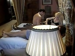 Blonde and brunette fuck 2 guys in their bedroom
