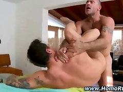 Gay mounts straight ass