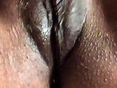 Ebony goddess solo curvey and hairy pussy masturbation part 2