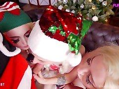 Santa's helpers help cum Purple Bitch Sia Siberia AliceBong group teen anal