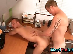Bobby gets his tight ass fucked at work part2