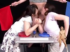 Arm Wrestler Blowjob Japanese Game Show 3 Ayoko Kano vs Hinami Narusawa