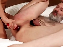 pegging, 1s time gril blood mistress rebeca, femdome
