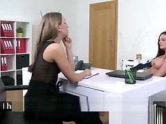 Nice mobile made video Anny fingered hard in office