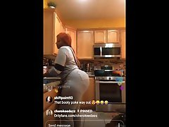 Cherokee DAss on IG live cooking and twerking