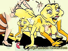Famous cartoon heroes Antz hardcore orgy