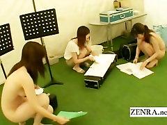Subtitruota praktikos sesija Japonijoje nuogas orkestras