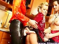 Bukkake fetish lesbians strapon wet fucking