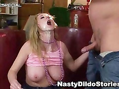 Mature MILF gets all her holes filled part1
