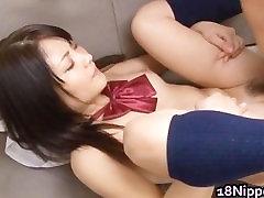 Kanna Harumi Asian schoolgirl shows off part2