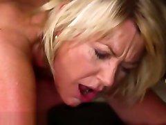 LustyGrandmas Clit Pierced GILF Gets Massaged & Cummed On